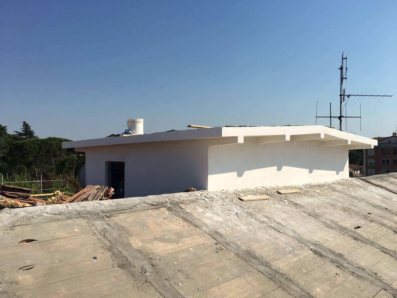 ricostruzione tetto condominiale